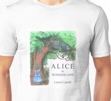 Modern Alice in Wonderland Book Cover Unisex T-Shirt