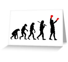 Boxing Champion Evolution Greeting Card