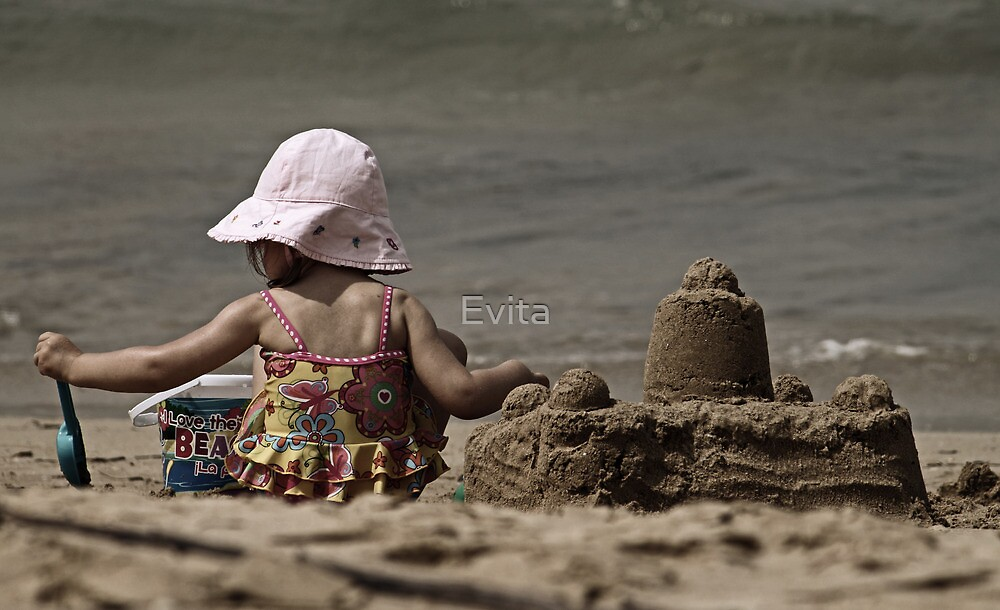 A Day At The Beach by Evita