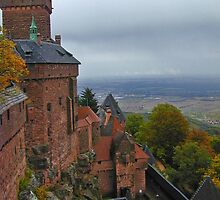 Castle in Alsace, France in autumn by Michael Brewer
