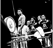Thrilla in Manila. Reaction to Question About His weight Photographic Print
