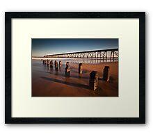 Steetley piers Framed Print