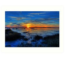 Low Tide at Sunset Art Print