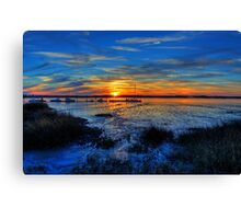 Low Tide at Sunset Canvas Print