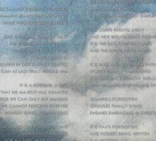 Heaven's Poem Sticker