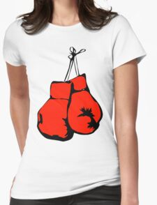 Hanging Boxing Gloves Womens Fitted T-Shirt