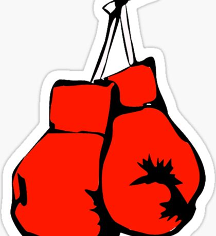 Hanging Boxing Gloves Sticker