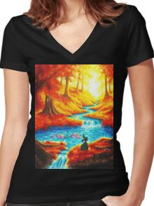 WISHES AND DREAMS Women's Fitted V-Neck T-Shirt