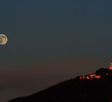 Full Moon climbing the Superga hill by Stefano  De Rosa