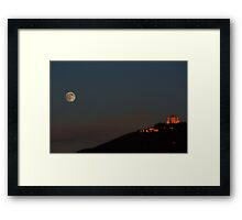 Full Moon climbing the Superga hill Framed Print