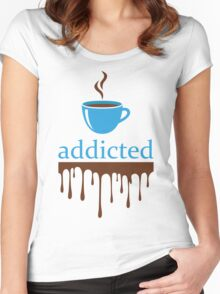 Addicted to coffee Women's Fitted Scoop T-Shirt