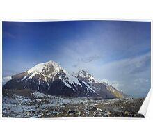 Sunrise on the Inylchek Glacier, Kyrgyzstan Poster