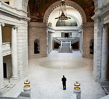 Interior Hall, Capitol Building, Salt Lake City by Phill Danze