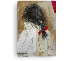 her little bow Canvas Print