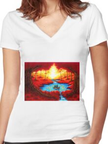 CIRCLE OF HOPE Women's Fitted V-Neck T-Shirt