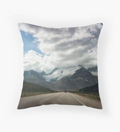 Big Road, Big Sky Throw Pillow
