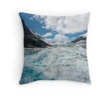 The Rapids of a Melting Glacier Throw Pillow