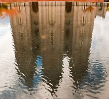 Temple Reflection by Phill Danze