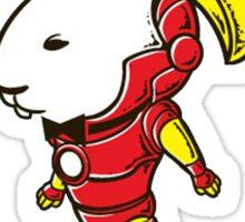 Iron Rabbit man Sticker