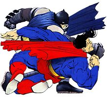 Batman punches Superman [no text] by ThePhysicist R