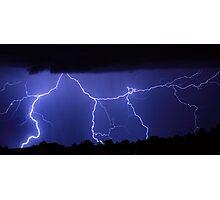 Lightning Gates Striking Photographic Print