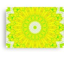 Yellow Kaleidoscope Canvas Print