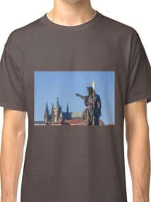 Statue of Jesus pointing to St Vitus's Cathedral Classic T-Shirt