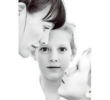 Self portrait with the children Photographic Print