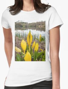 Yellow Skunk Cabbage Flower Womens Fitted T-Shirt