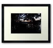 crack of dawn ove the lake Framed Print