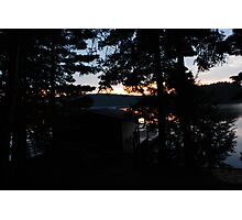crack of dawn ove the lake Photographic Print