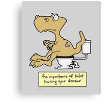 Train your dinosaur. Canvas Print