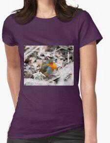 Frosty Robin Womens Fitted T-Shirt