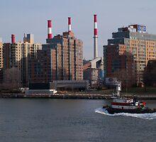 East River, NYC by Henri Irizarri