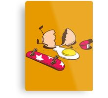Egg+Skateboard Metal Print