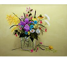 Wildflowers in a Vase - A wish for spring Photographic Print