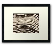 Abstracted Waves Framed Print