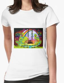 swinging bunnies Womens Fitted T-Shirt