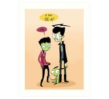 Invader Zim - Weird Dog (Ver. 2) Art Print