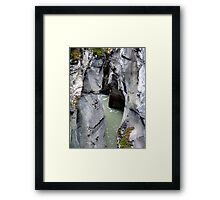 Maligne River Canyon(2) Framed Print