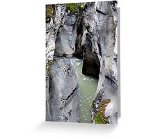 Maligne River Canyon(2) Greeting Card
