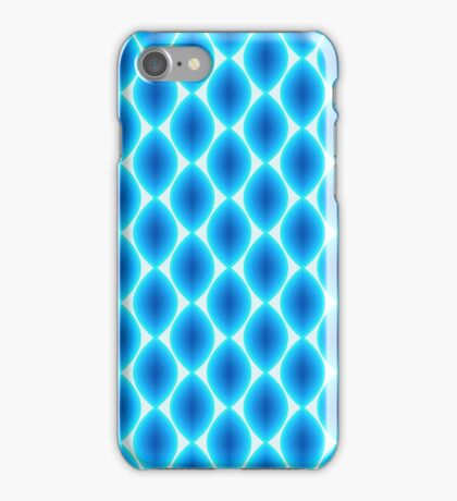 Luminous Abstract Pattern in Shades of Blue iPhone Case/Skin
