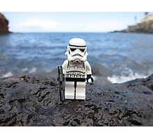 Dave Stormtrooper Tenerife at Beach Photographic Print