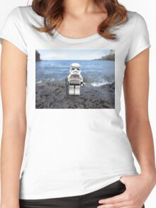 Dave Stormtrooper Tenerife at Beach Women's Fitted Scoop T-Shirt