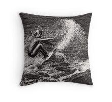 Surf Contrasts Throw Pillow