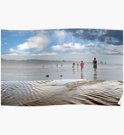 A Break in the Weather - Triptych Poster