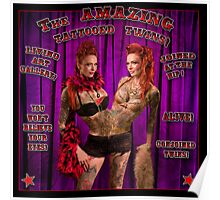 The Amazing Tattooed Twins! Poster