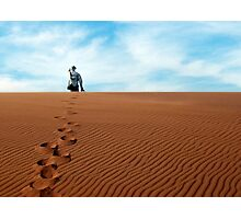 Leave only footprints behind  Photographic Print