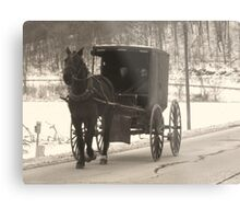 Amish near Breman Ohio in Fairfield County Metal Print