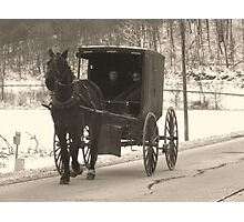 Amish near Breman Ohio in Fairfield County Photographic Print